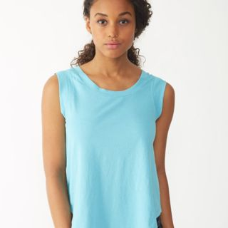 Women's Cap Sleeve Satin Jersey T-Shirt Thumbnail