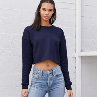 Women's Cropped Crew Fleece Thumbnail