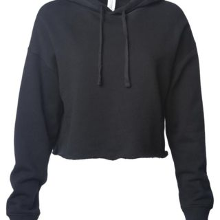 Women's Lightweight Hooded Pullover Crop Sweatshirt Thumbnail