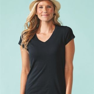Women's Sueded Short Sleeve V Thumbnail